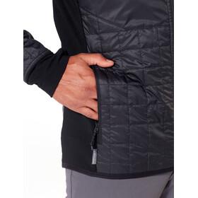 Icebreaker Helix Chaqueta con capucha manga larga y cremallera Hombre, black/jet heather